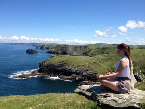 Meditation at Tintagel, Cornwall.
