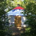 The yoga yurt...